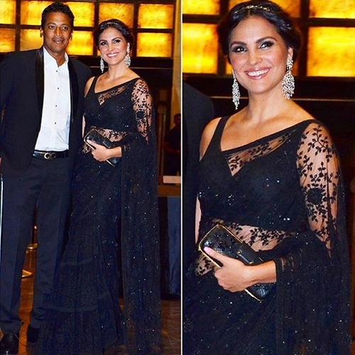 da75542954a How To Look Gorgeous In Your Lace Saree - The Celeb Way! | POPxo