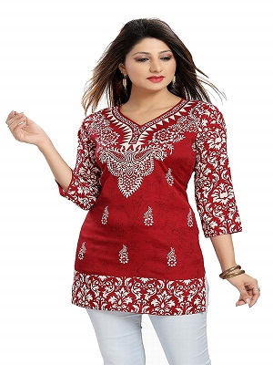 red-and-white-best-short-kurti