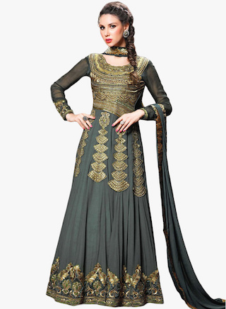 2 anarkali gowns