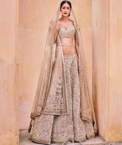 2 trendy bridal lehengas