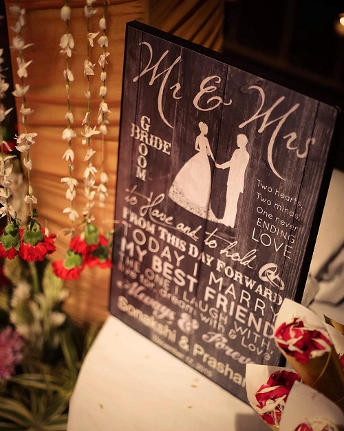3 Signboards at weddings
