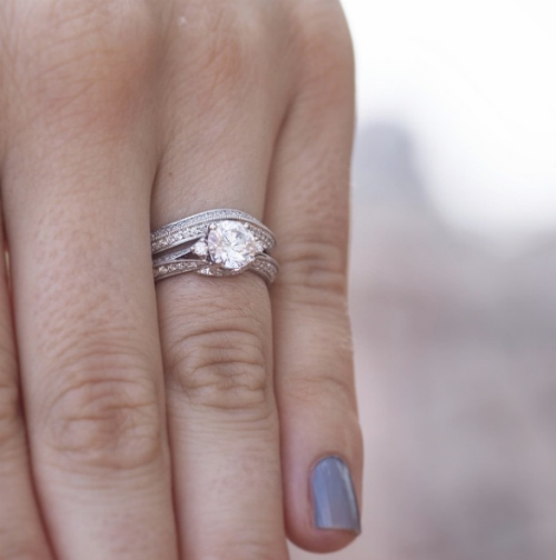 3 stackable engagement rings