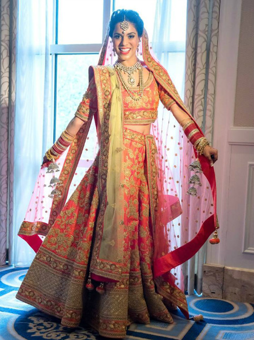 3 trendy bridal lehengas