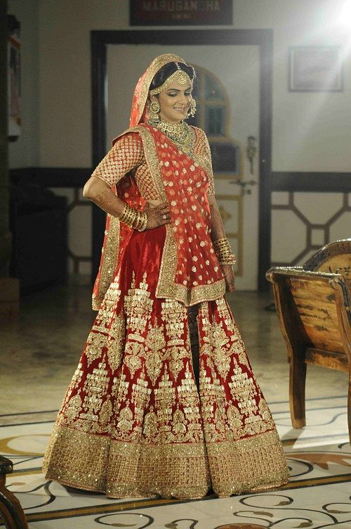 4 brides who wore red lehengas