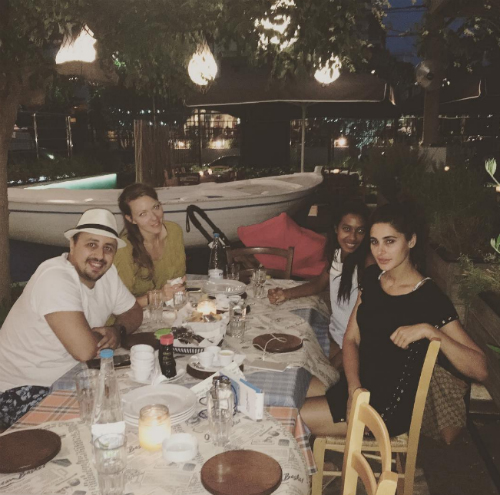 nargis fakhri on vacation