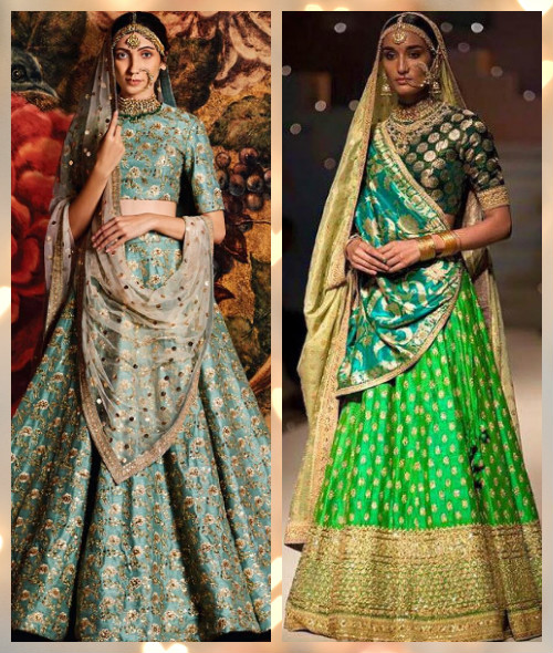 4 trendy bridal lehengas