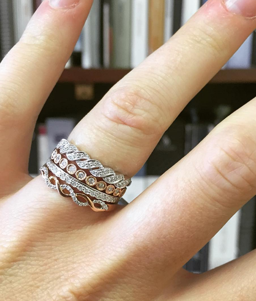 6 stackable engagement rings