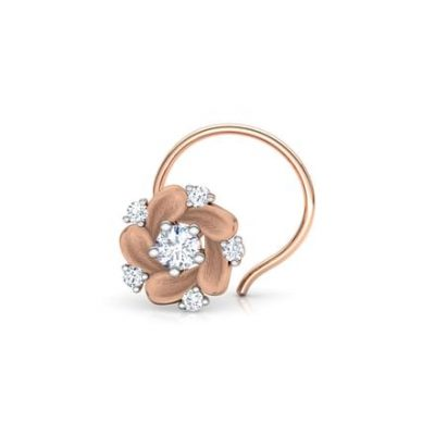 Claytonia Floret Nose Pin from the Fleur collection