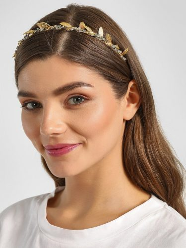 Leaf Diamante Embellished Hair Band Stylish Hair Accessories