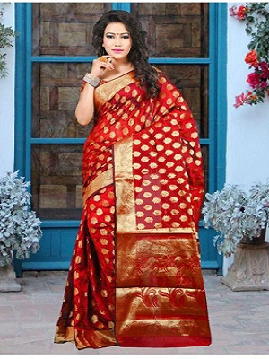 hot-red-saree-under-1000