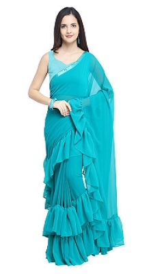 ruffle-saree-under-1000