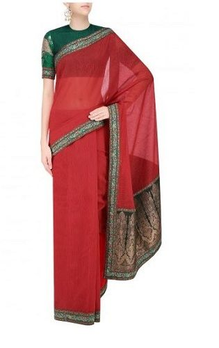 10 red sarees for the bride to be