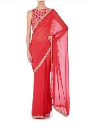13 red sarees for the bride to be
