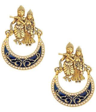 2 chand baali earrings