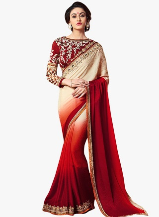 2 red sarees for the bride to be