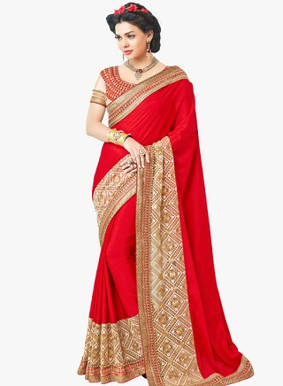 7 red sarees for the bride to be