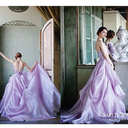 7 colourful wedding gowns
