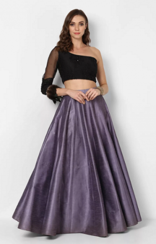 Embroidered-crop-top-with-skirt
