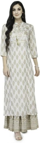 Kurti with Skirts for Indian Festivals- All white 24