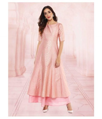Kurti with Skirts for Indian Festivals- Baby pink 7