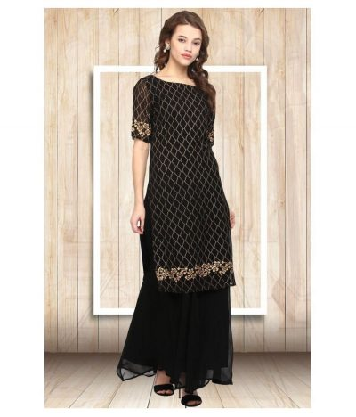 Kurti with Skirts for Indian Festivals- Black set 8