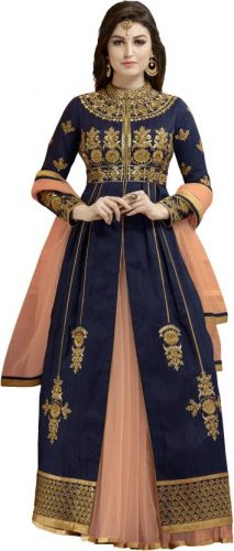 Kurti with Skirts for Indian Festivals- Blue royal coral 21