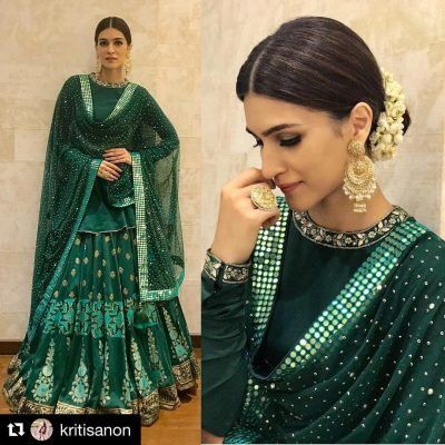 Kurti with Skirts for Indian Festivals- Kriti Sanon