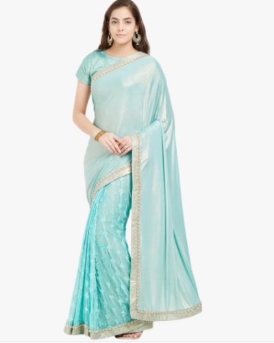 karva-chauth-blue-saree