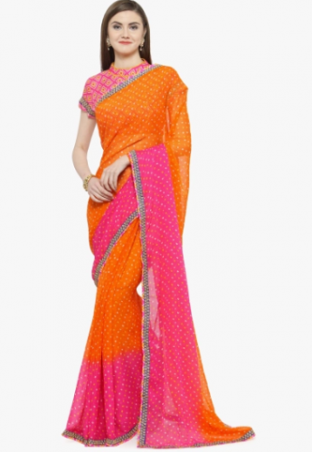 karva-chauth-pink-orange-saree
