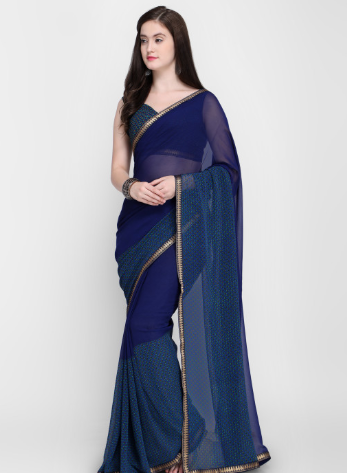 navy-blue-saree-karva-chauth