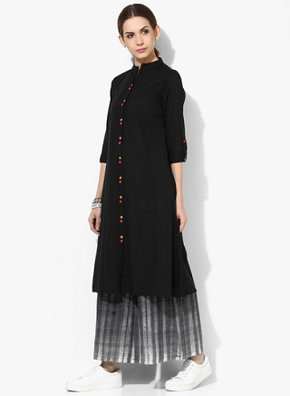 1 black kurtas for women