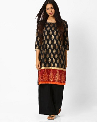 10 black kurtas for women