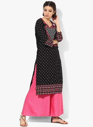 12 black kurtas for women