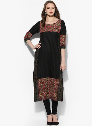 2 black kurtas for women