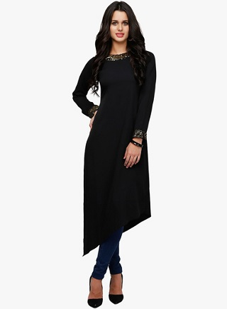 3 black kurtas for women