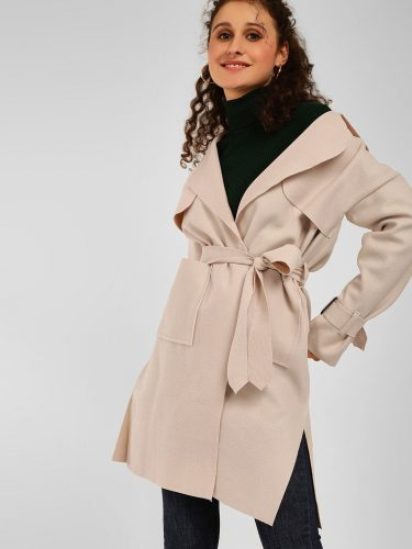 Front Tie-Up Trench Coat