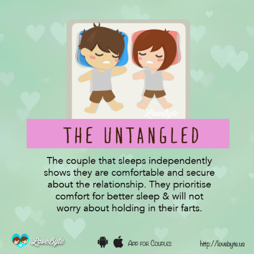 7 sleeping style with boyfriend means
