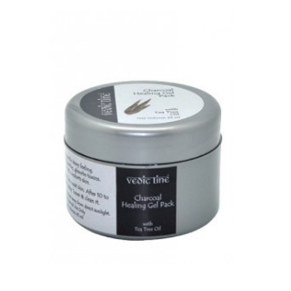 12 face packs for glowing skin - Vedic Line Charcoal Healing Gel Pack