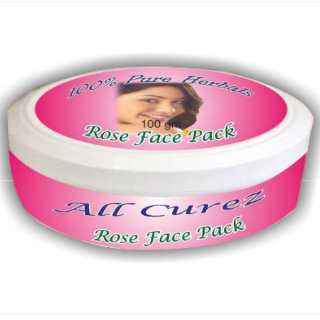 9 face packs for glowing skin - All Curez Rose Face Pack