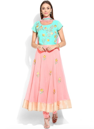 3 anarkali suits for the wedding guest