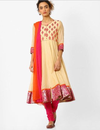 4 anarkali suits for the wedding guest