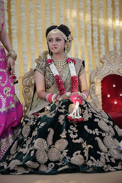 9 lehenga colours for a day wedding