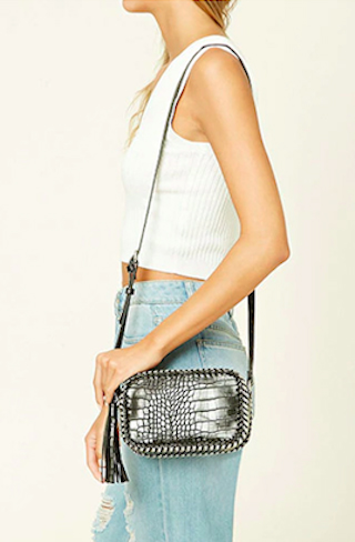 1. Curb Chain Fringe Crossbody