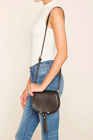 3. Curb Chain Fringe Crossbody