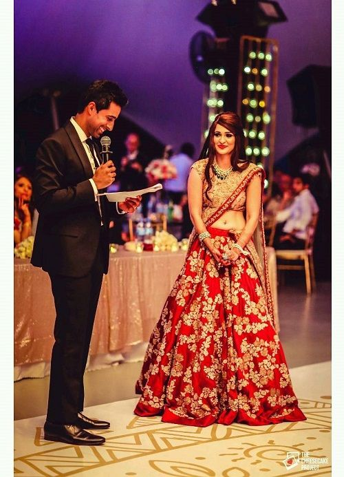 7 red bridal lehengas