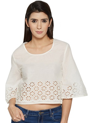 petite-in-white-indo-westerncrop-top