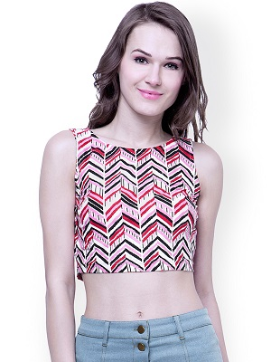 print-paradise-Indo-western-crop-top