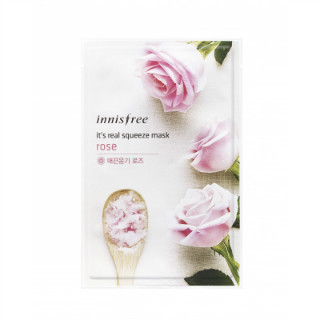 1 skincare products for the new bride - Innisfree It's Real Squeeze Mask - Rose