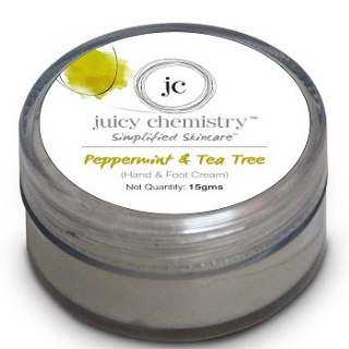 14 skincare products for the new bride - Juicy Chemistry Peppermint & Tea Tree (Hand & Foot Cream)