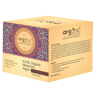 2 products for oily hair - arganic hair mask